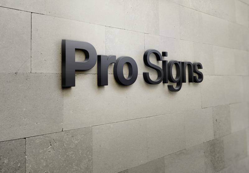 Dimensional Signs By Pro Signs